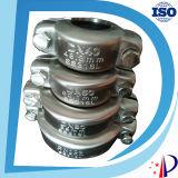 Couplage de desserrage rapide d'ajustage de précision de pipe de bride de bâti du fer Dn50
