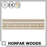 Modanatura di modellatura di legno della parte superiore del materiale da costruzione del legno duro
