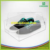Casos de indicador acrílicos desobstruídos feitos sob encomenda do perspex dos casos de indicador da sapata da caixa