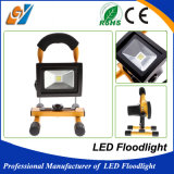 Luz de inundación portable y recargable de 10W LED IP65 impermeable