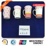 Tasse neuve d'os avec l'étiquette pour le thé et le café