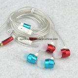 Da em-Orelha trançada do cabo da corda da forma do fornecedor da fábrica fones de ouvido estereofónicos com Mic