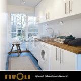 Mobilia bianca Tivo-101VW della casa della camera da letto della Camera piena del guardaroba dell'impiallacciatura della quercia della stanza di lavanderia della lacca