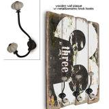 도매 중국 공장 목욕탕 앙티크는 나무로 되는 장식적인 벽 훅을 던졌다