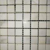 普及した浴室のCararraの白い大理石のガラスモザイク・タイル(MS-638)
