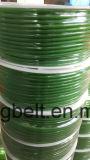 Поверхность зеленого померанцового прозрачного пояса привода полиуретана пояса PU круглого ровная и грубая