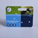 Cartão plástico material impresso do gancho dos PP