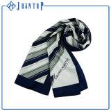 sciarpa lunga del poliestere blu classico dell'assegno 90*90rainbow