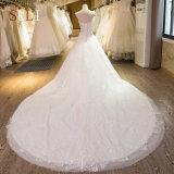 Роскошь SL-22 отбортовывает платье венчания 2017 Appliques шнурка