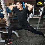 Mens 훈련 착용 스포츠 Legging 적당 셔츠 체조 옷