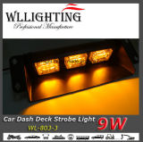 luz de advertência do estroboscópio do pára-brisa da plataforma do traço do carro 9W