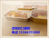 Caixa afastada do alimento Frozen da folha do recipiente retangular que empacota com tampa