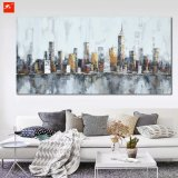 Architektur-abstraktes Wand-Kunst Citycape Ölgemälde