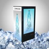 Стеклянный холодильник двери с TV для напитка и еды