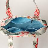 Rose modèle le sac à main imperméable à l'eau de créateur de toile de PVC (99184-1)