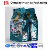 Personalizzare il sacchetto impaccante di plastica dell'alimento per animali domestici della parte inferiore piana