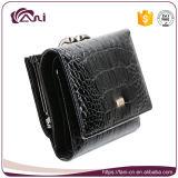 Повелительница Бумажник типа краткости кожи крокодила бумажника бумажника 2017 женщин черная складывая неподдельная