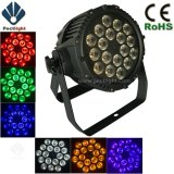 Profesional 18X12W RGBWA + UV 6in1 etapa del LED PAR Can Luz