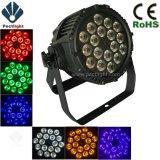 高明るさ18X12W RGBWA+UV 6in1の段階LEDの同価はつくことができる