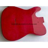 Готовые красное дерево Теле гитара тела Trasparent Красный цвет