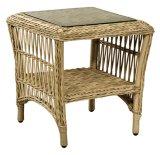 Vime ao ar livre do lazer/tabela e cadeira ajustadas mobília do Rattan