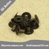 15mmの屋外の摩耗のための真鍮の金属のスナップボタン