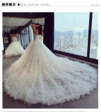 2017 robes de mariage nuptiales de sirène d'organza en cristal 6833