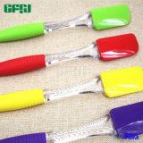 La salade approuvée de silicones de catégorie comestible usine le grattoir de spatule pour le mélange