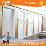 Puerta de madera moldeada pintura de fondo blanca lisa interior de HDF para el dormitorio