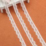 Testo fisso bianco del collo del merletto di stirata lavorato a maglia piccolo modo