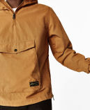 100% Algodão Twill Jacket Mens with Hood