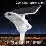 Fabrik-Preis-haltbares Aluminium 20W-100W alle in einem integrierten Solarstraßenlaterne