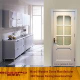 Modèle en verre de porte de cuisine encadré par bois (GSP3-045)