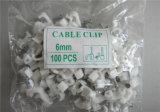 Collier de câble en plastique de mur de clip de fixation de câble électrique petit