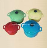 il Cookware del ghisa 4PCS ha impostato nel colore verde