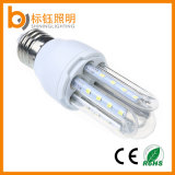 Luz energy-saving 5W E27 do milho do diodo emissor de luz da lâmpada 3u do diodo emissor de luz com o bulbo 2835SMD