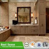 熱い販売の壁に取り付けられた木のベニヤの浴室の家具
