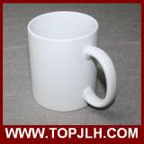 Tasse blanche extérieure mate de l'impression 11oz de presse de la chaleur