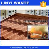 Forme enduite Linyi Wante de tuile de toit de tuile de toit en métal de prix concurrentiel/en métal de pierre