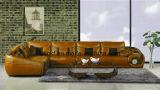 Sofá da sala de visitas com o sofá moderno do couro genuíno ajustado (UL-NS421)