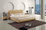 침실 가구 가죽 침대 (SBT-5819)