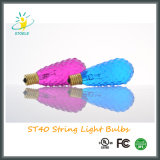 St40 7W Zeichenkette-Licht-Weihnachtslicht-Glühbirne
