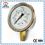 """2.5 """" Manometer van de Hoge druk van de Manometer van het Geval van het Staal de Normale met Hoge Nauwkeurigheid"""