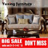 Sofà classico americano del tessuto per l'insieme della mobilia della casa dell'oggetto d'antiquariato del salone