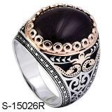 Fatory quente vendendo 925 anéis agradáveis de prata dos homens dos modelos