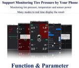 Sistemas de alarma móviles del coche de la visualización del APP Bluetooth del OBD TPMS de neumático del sistema de vigilancia sin hilos de la presión TPMS interno