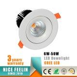 20W MAZORCA comercial Downlight del CREE LED con el Ce RoHS