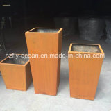 Fo-9c02 Corten Steel Flower Pot Garden Planter