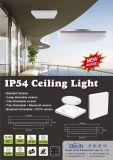 el sensor ajustable IP54 de 18W MW impermeabiliza el Ce cuadrado de la luz de techo del LED aprobado