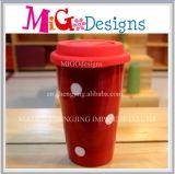 Нов керамические кружки с чашкой чая крышек белой большой